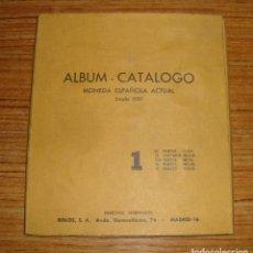 Material numismático: (TC-110) RARO Y CURIOSO ALBUM CATALOGO MONEDA ESPAÑOLA ACTUAL DESDE 1937 BIBLOS MADRID. Lote 112668855