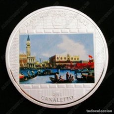 Material numismático: MONEDA MASTERPIECES OF ART GIOVANNI CANALETTO COOK ISLANDS AÑO 2011 CON BAÑO DE PLATA.. Lote 113692447