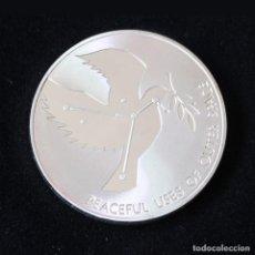 Material numismático: MONEDA CONMEMORATIVA DE PLATA ¨NACIONES UNIDAS/ LA PALOMA DE LA PAZ¨. Lote 113708419