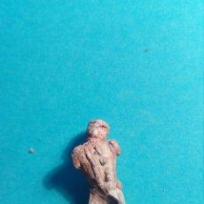 Material numismático: ANTIGUA FIGURA DE PLOMO. Lote 114220214