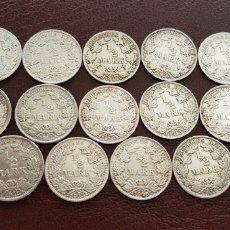 Material numismático: LOTE 14 MONEDAS ANTIGUAS DE PLATA ALEMANIA. Lote 118407402