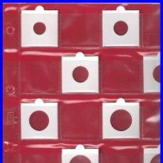 Material numismático: 25 HOJAS PARA 20 CARTONES DE MONEDAS; NUEVAS. Lote 199069846