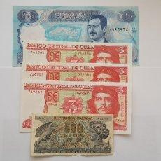 Material numismático: LOTE 5 BILLETES EXTRANJEROS. Lote 118382592