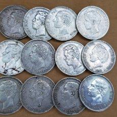 Material numismático: LOTE DE 12 MONEDAS ANTIGUAS DE PLATA PARA CLASIFICAR. Lote 118608011