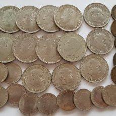 Material numismático: LOTES 32 MONEDAS ANTIGUAS ESPAÑOLAS. Lote 118630898