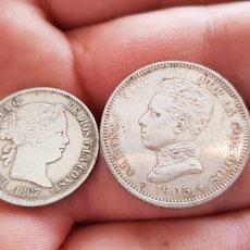 Material numismático: LOTE DE 2 MONEDAS ANTIGUAS DE PLATA. Lote 118631420