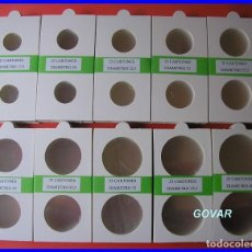 Material numismático: LOTE 250 CARTONES CON SOLAPA, PARA MONEDAS DE GRAPAR. DIÁMETROS DISTINTOS,. Lote 176542493