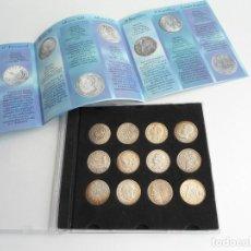 Material numismático: CAJA/ESTUCHE CON COLECCION DE MONEDAS DE LA PESETA AL EURO - EDITADO POR LA VANGUARDIA. Lote 123224107