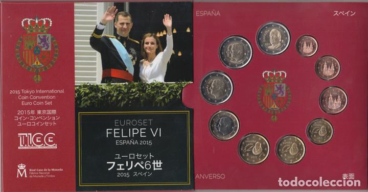 ESPAÑA SPAIN 2015 CARTERA OFICIAL EUROS + 2? CONMEMORATIVOS FELIPE VI + 2? J CAR (Numismática - Material Numismático)