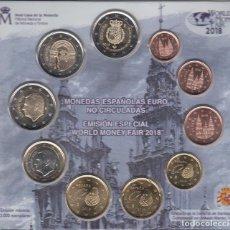 Numismatisches Material - España Spain 2018 Cartera Oficial Euros + 2? +2? Felipe VI y Compostela Berlin - 123591518