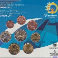 Material numismático: MONEDAS EUROS GRECIA CARTERA 2011 INCLUYE 2 EUROS CONMEMORATIVOS. Lote 123592327