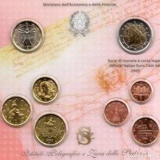 Material numismático: MONEDAS EUROS ITALIA CARTERA 2005. Lote 123592655