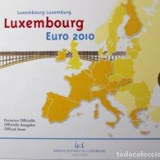 Material numismático: MONEDAS EUROS LUXEMBURGO CARTERA 2010 (INCLUYE 2 EU CONMEMORATIVOS). Lote 123592939