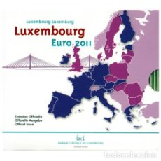 Material numismático: MONEDAS EUROS LUXEMBURGO CARTERA 2011 (INCLUYE 2 EU CONMEMORATIVOS). Lote 123592947