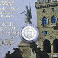 Material numismático: SAN MARINO 2 EUROS CONMEMORATIVOS (ESTUCHE OFICIAL) 2006. Lote 123593231
