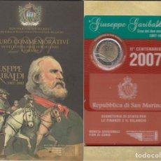 Material numismático: SAN MARINO 2 EUROS CONMEMORATIVOS (ESTUCHE OFICIAL) 2007. Lote 123593235