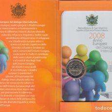 Material numismático: SAN MARINO 2 EUROS CONMEMORATIVOS (ESTUCHE OFICIAL) 2008. Lote 123593239