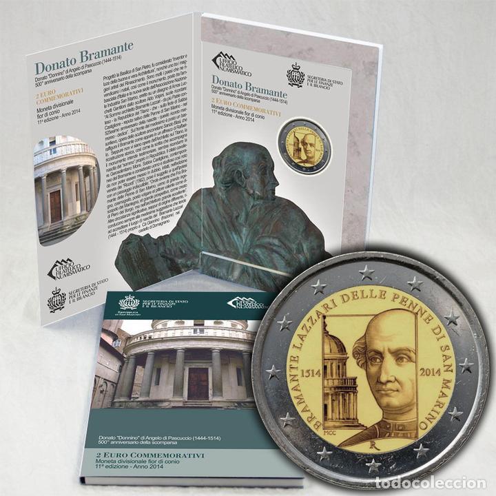 SAN MARINO 2 EUROS CONMEMORATIVOS (ESTUCHE OFICIAL) 2014 (Numismática - Material Numismático)