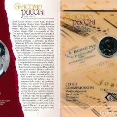 Material numismático: SAN MARINO 2 EUROS CONMEMORATIVOS 2014 PUCCINI. Lote 123593394