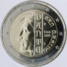 Material numismático: SAN MARINO 2 EUROS CONMEMORATIVOS 2015 DANTE. Lote 123593398