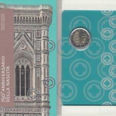 Material numismático: SAN MARINO 2017 2 ? EUROS CONMEMORATIVOS CARTERA OFICIAL AV NACIMIENTO GIOTTO. Lote 123593418