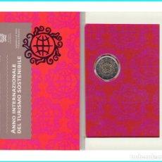 Material numismático: SAN MARINO 2017 2 ? EUROS CONMEMORATIVOS CARTERA OFICIAL TURISMO SOSTENIBLE. Lote 123593422