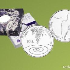 Material numismático: MONEDAS - ?UROS CONMEMORATIVOS DE EUROPA - FINLANDIA 10? 2014 EMIL WIKSTROM. Lote 123596635