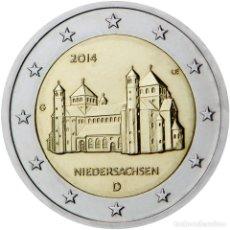 Material numismático: ALEMANIA 2014 2 ? EUROS CONMEMORATIVOS BAJA SAJONIA ( 5 MONEDAS ). Lote 123597891