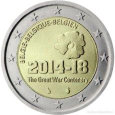 Material numismático: BÉLGICA 2014 2 ? EUROS CONMEMORATIVOS 100º AV 1º GUERRA MUNDIAL. Lote 123598174