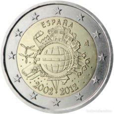 Material numismático: ESPAÑA 2012 2 ? EUROS CONMEMORATIVOS X ANIVERSARIO DEL EURO. Lote 123598430