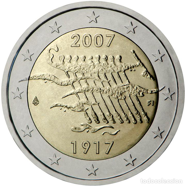FINLANDIA 2007 2 ? EUROS CONMEMORATIVOS AV INDEPENDENCIA (Numismática - Material Numismático)