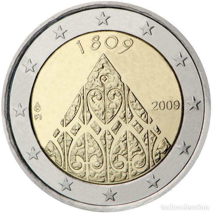 FINLANDIA 2009 2 ? EUROS CONMEMORATIVOS II CENT. AUTONOMÍA (Numismática - Material Numismático)
