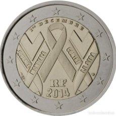 Material numismático: FRANCIA 2014 2 ? EUROS CONMEMORATIVOS DÍA MUNDIAL SIDA. Lote 123598784