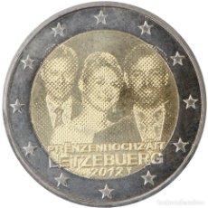 Material numismático: LUXEMBURGO 2012 2 ? EUROS CONMEMORATIVOS BODA PRÍNCIPE GUILLERMO. Lote 123599388