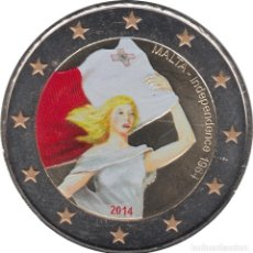Material numismático: MALTA 2014 2 ? EUROS CONMEMORATIVOS INDEPEDENCIA 1964 COLOR. Lote 123599472