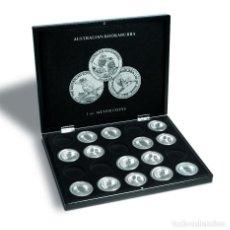 Material numismático: LEUCHTTURM ESTUCHE PARA 20 MONEDAS DE PLATA KOOKABURRA EN CÁPSULAS, NEGRO. Lote 123612776