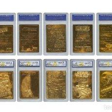 Material numismático: GRAN LOTE DE 7 LINGOTES CARTA DE ORO 23KT STAR WARS EDICION LIMITADAS Y NUMERADAS. Lote 181790476