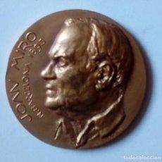 Material numismático: MEDALLA JOAN MIRÓ 1968. Lote 126787331