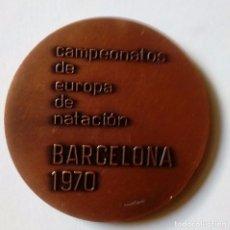 Material numismático: MEDALLA CAMPEONATO DE EUROPA DE NATACIÓN 1970. Lote 126789539