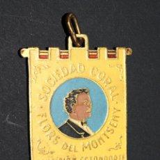 Material numismático: MEDALLA SOCIEDAD CORAL FLORS DEL MONTSENY - BENDICION ESTANDARTE (SAN CELONI) - AÑO 1955. Lote 130955308