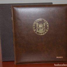 Material numismático: ÁLBUM PARA MONEDAS CON CAJETÍN - FILABO - 210X225MM - 4 ANILLAS. Lote 131784802