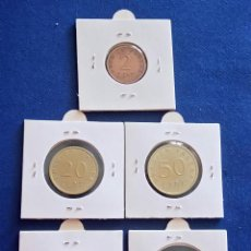Material numismático: LOTE 5 MONEDAS DE EURO EN PRUEBA . Lote 135690635
