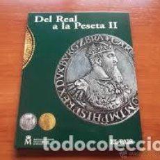 Material numismático: DEL REAL A LA PESETA ALBUM VACIO. Lote 137183326