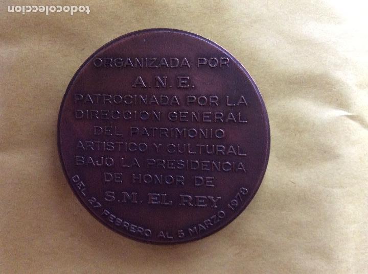 Material numismático: Medalla conmemorativa de numismatica Barcelona 1978. - Foto 2 - 138778510