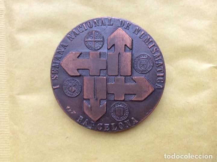 MEDALLA CONMEMORATIVA DE NUMISMATICA BARCELONA 1978. (Numismática - Material Numismático)