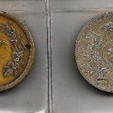 Material numismático: LOTE DE 13 MONEDAS ARABES, EGIPTO, IRÁN E IRAK , USADAS.. Lote 139099858