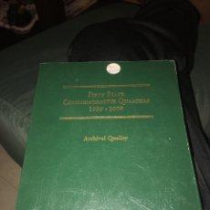 Material numismático: ÁLBUM PARA MONEDAS USA QUATER CONMEMORATIVA 1990 A 2008. Lote 141582850