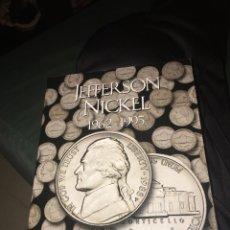 Material numismático: ÁLBUM MONEDAS JEFFERSON NICKEL 1962-1995 CON 44 MONEDAS. Lote 141584148