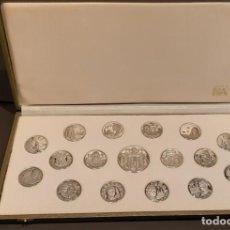 Material numismático: COLECCIÒN DE MONEDAS DE PLATA 999(PROOF)DE LAS REGIONES ESPAÑOLAS. Lote 146719034