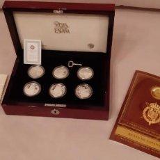 Material numismático: COLECCIÒN DE 19 MONEDAS DE PLATA 999 DE LOS REYES ESPAÑOLES. Lote 146929830